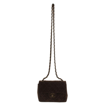 "Chanel ""Classic Flap Bag Mini Square"" Suede"