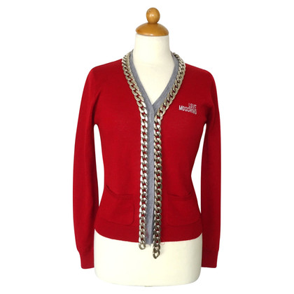 Moschino Love Cardigan with chain application