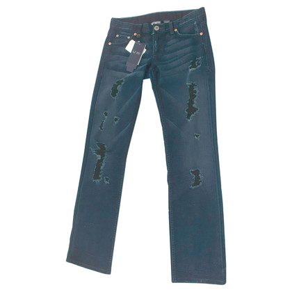 Armani Jeans Dunkelblaue Jeans im Destroyed Look