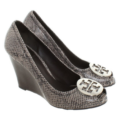 Tory Burch Wedges with snakeskin