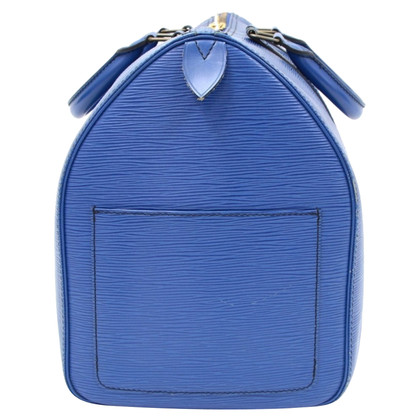 Louis Vuitton Keepall 45 Blue Epi Leather