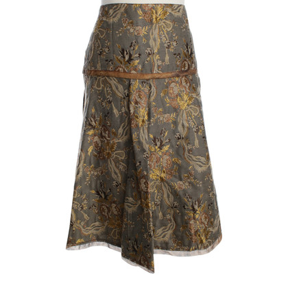 Roberto Cavalli Folding skirt with floral pattern