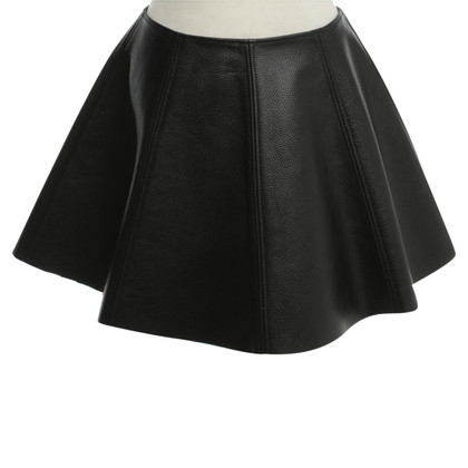 Opening Ceremony Leather skirt in black