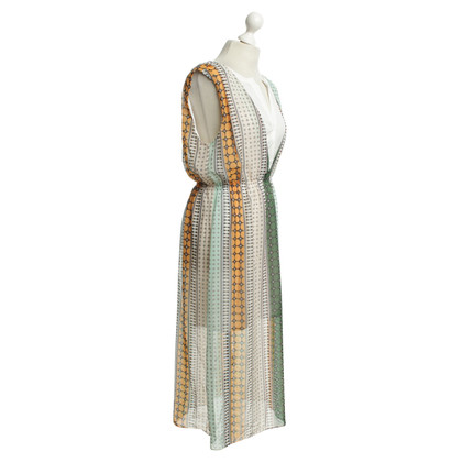Sandro Kleid mit Muster-Mix