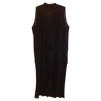 René Lezard Silk dress with a thong