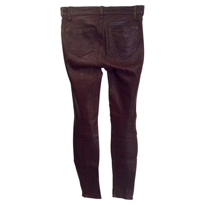 J Brand Leather pants in Bordeaux