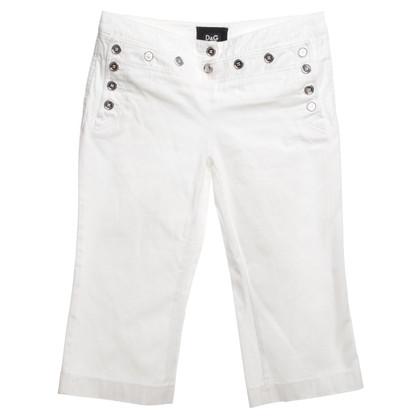 Dolce & Gabbana Capris in White