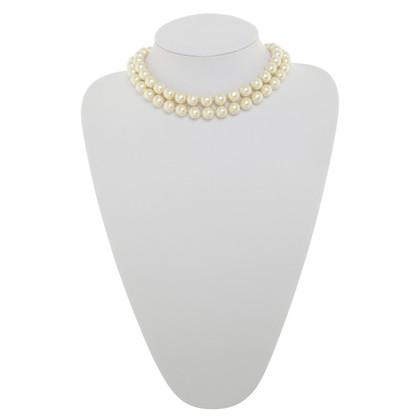 Chanel Dubbele rij Pearl Necklace