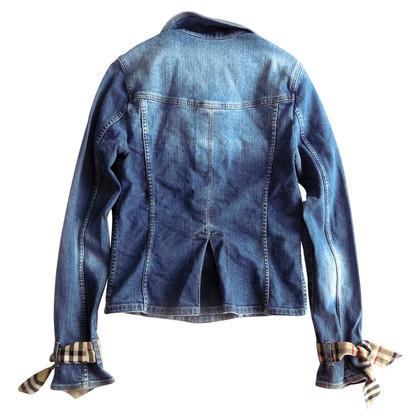 Burberry Denim jacket with tartan details