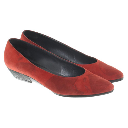 Casadei Suede pumps en rouge