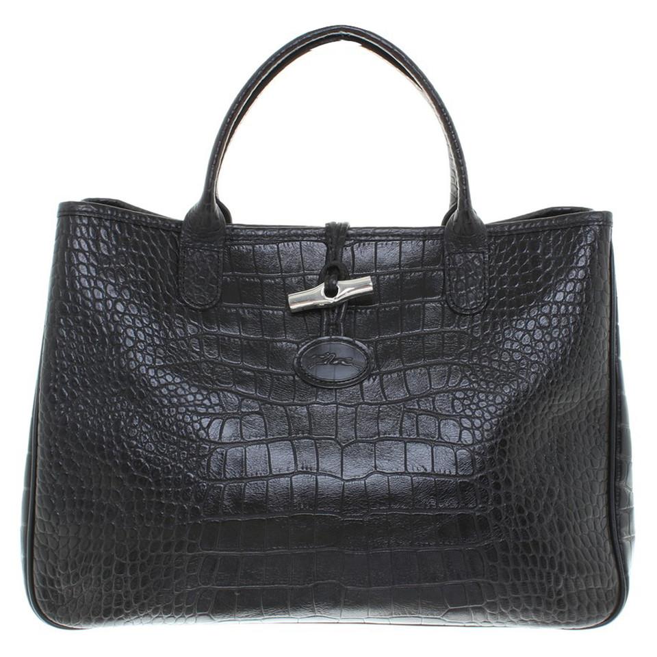 longchamp handtasche in schwarz second hand longchamp. Black Bedroom Furniture Sets. Home Design Ideas