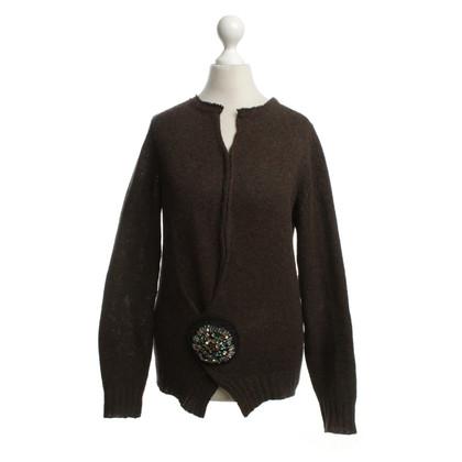 Prada maglione maglia con pietre preziose