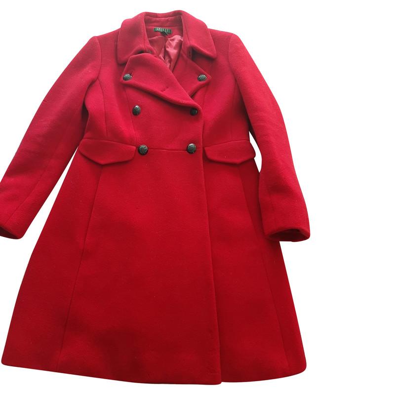 Ralph Lauren JackeMantel aus Wolle in Rot