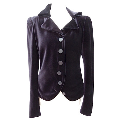 Giorgio Armani Velvet blazer worked out shoulders