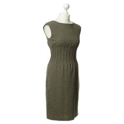 Calvin Klein Pintuck dress in khaki
