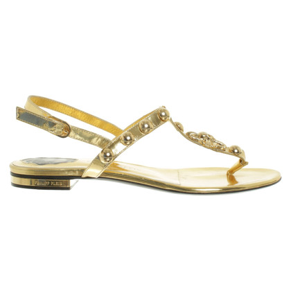 Philipp Plein Sandalen in Gold