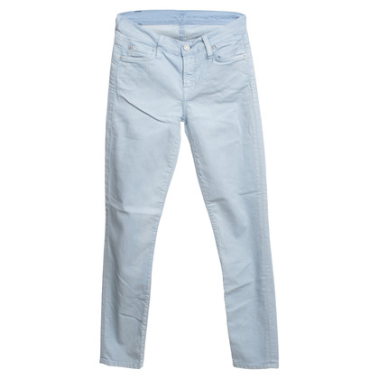 "7 For All Mankind Jeans ""The Skinny"" in lichtblauw"