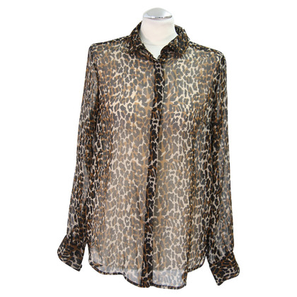 French Connection Silk blouse with leopard print