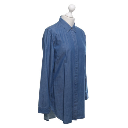 Closed Jeansblouse in blauw
