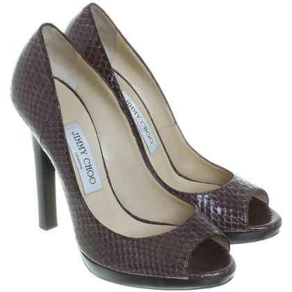 Jimmy Choo Peep-toes in Brown