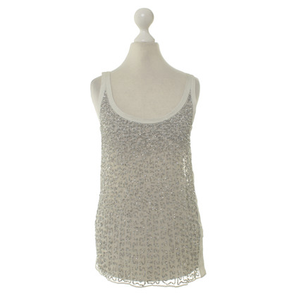 All Saints top with sequin trim