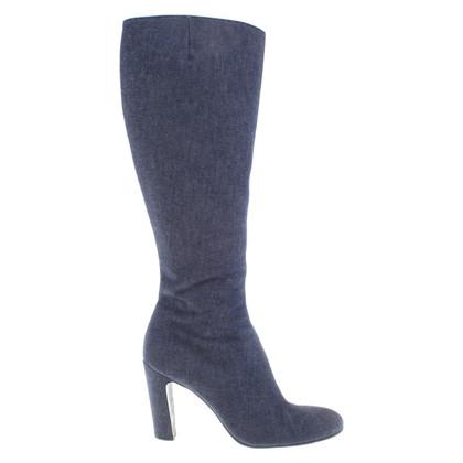 Bally Stivali di jeans in blu