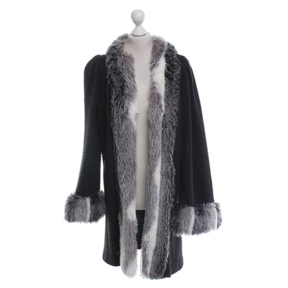 Other Designer St. John - Cardigan with faux fur