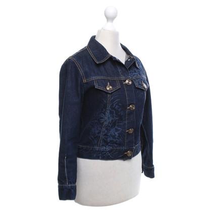Jean Paul Gaultier giacca di jeans con motivo