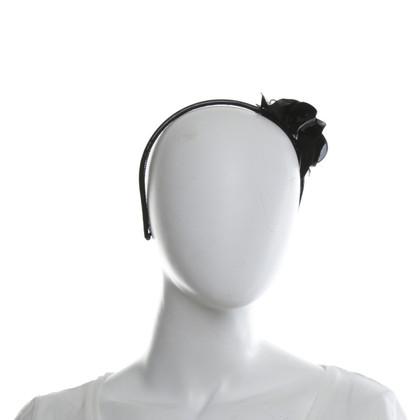 Miu Miu Haarreif aus Lackleder