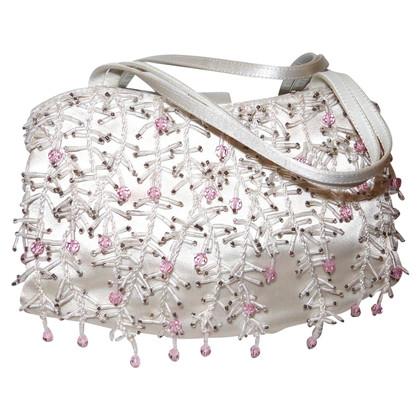 Manolo Blahnik Silk purse with semi-precious stones
