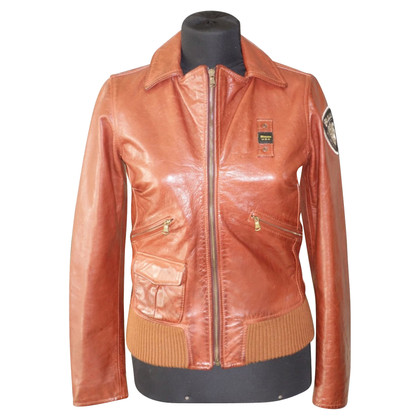 Blauer USA Leather jacket in bomber style