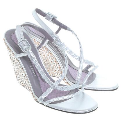 Anya Hindmarch Sandaletten mit Keilabsatz