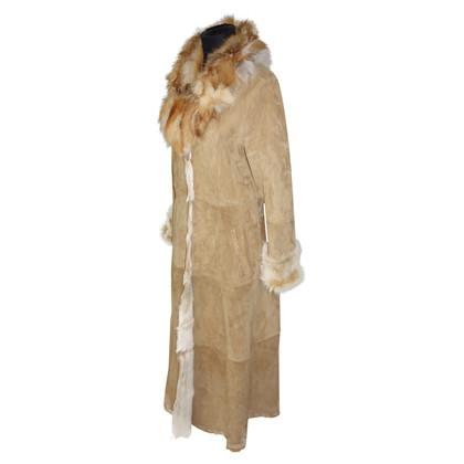 Max Mara Long coat in goat skin