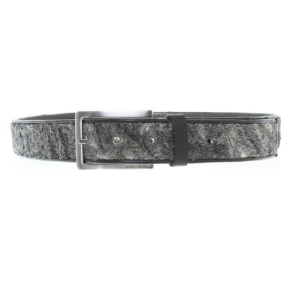 Hugo Boss Leather belt with fur