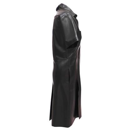 Yves Saint Laurent Lederkleid mit Taschen