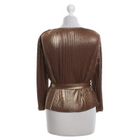 Halston Heritage top in gold