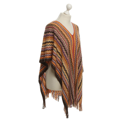 Missoni Poncho with pattern