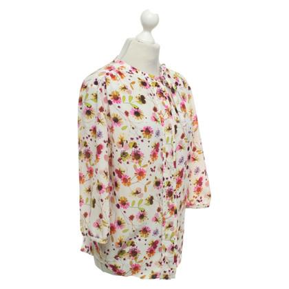 JOOP! Blusa in seta con stampa floreale