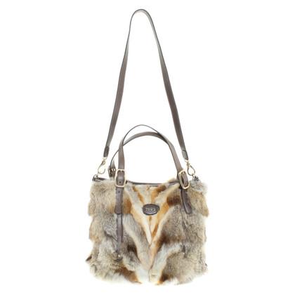 Tod's Handbag made of fox fur