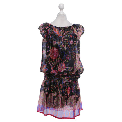 Max & Co Silk dress in black / multicolor