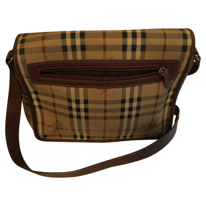 Burberry Schouderriem in beige leder