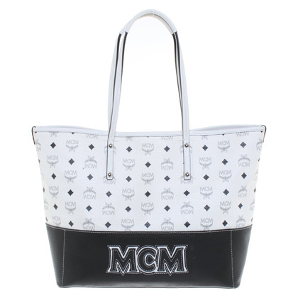 MCM Tote Bag in black and white