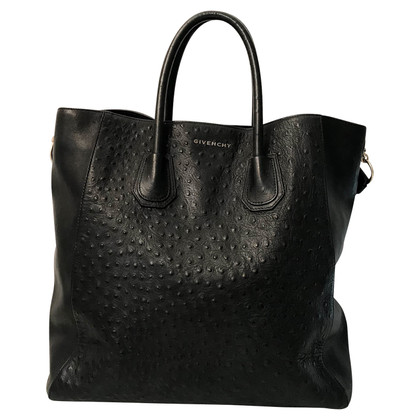 Givenchy Struisvogel Leren Shopper