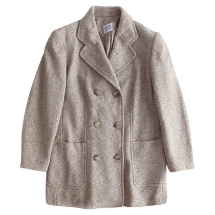 Ferre Cappotto in lana melange beige e grigio