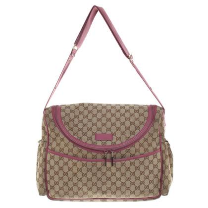 Gucci Shoulder bag in beige / pink