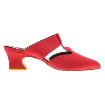 La Perla Mules in red