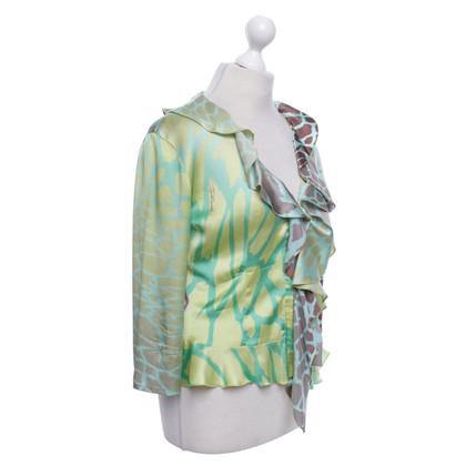 Roberto Cavalli Zijden blouse met patroon