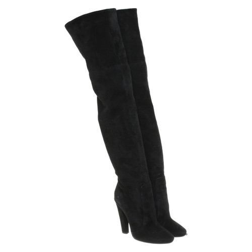92b635eefd1 Jimmy Choo Boots Suede in Black - Second Hand Jimmy Choo Boots Suede ...