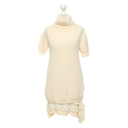 Twin-Set Simona Barbieri Gebreide jurk in crèmewit