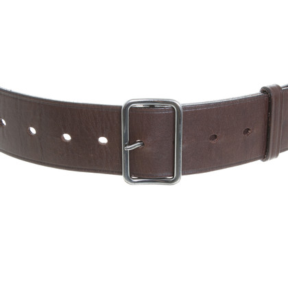 Jil Sander Brown leather belt